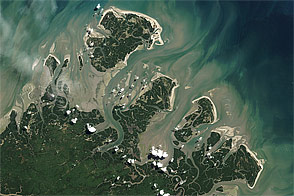 Barrier Islands off Brazil