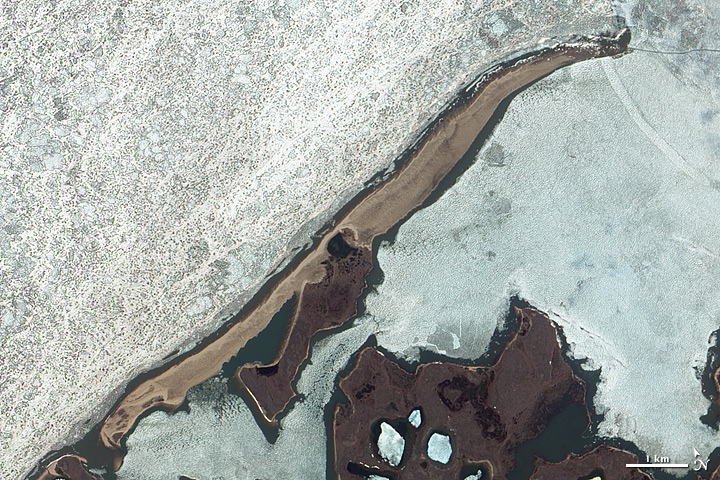 Barrier Island along Arctic Shores