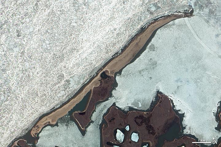 Barrier Island along Arctic Shores