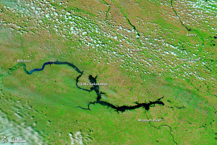 Floods along the Missouri and Souris Rivers