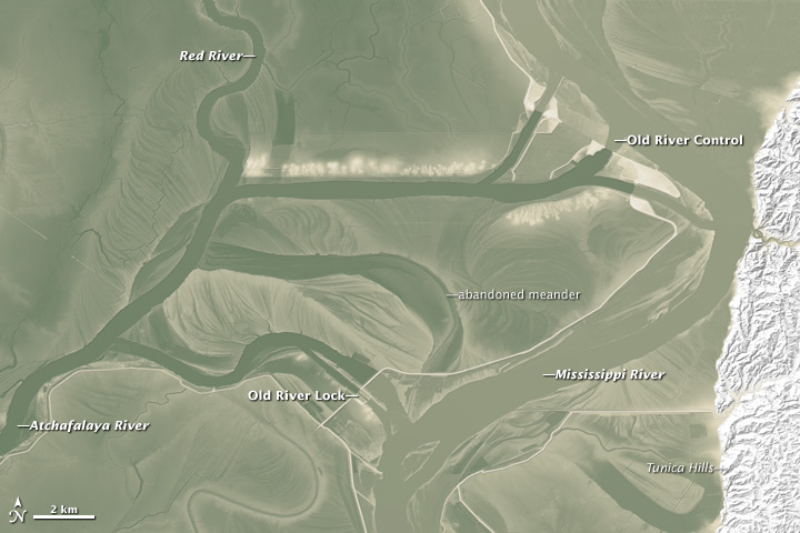 Lay of the Land Between Old River and the Mississippi - related image preview