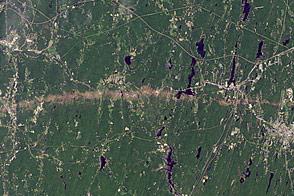 Tornado Track near Sturbridge, Massachusetts