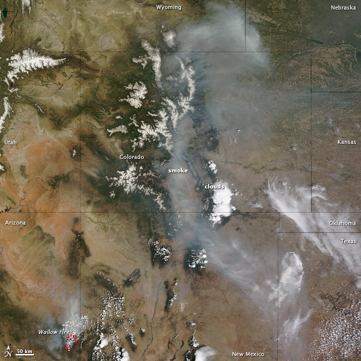 Smoke over Colorado