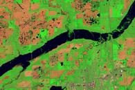 Flooding along the James River, South Dakota