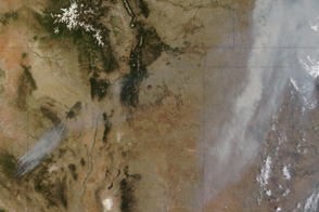Wallow Fire Sends Smoke across Midwest