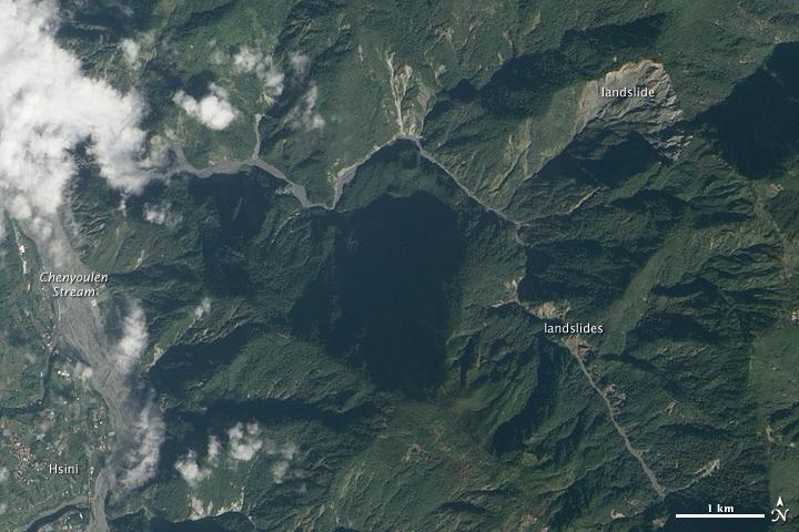 Landslide Scars in Taiwan