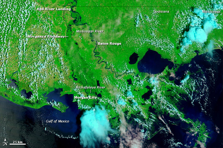 Lingering Floods in Louisiana
