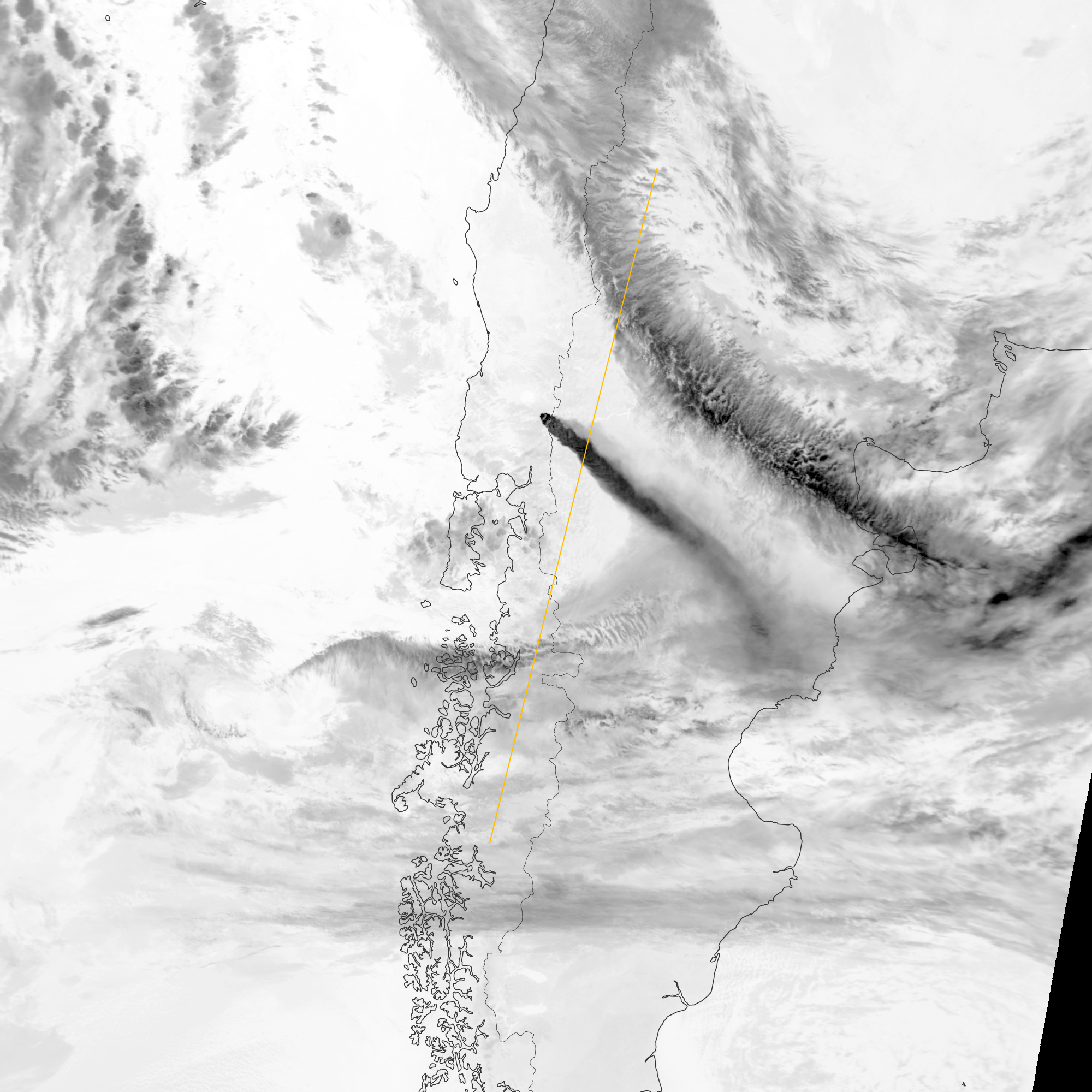 Ash Plume from Puyehue-Cordón Caulle - related image preview