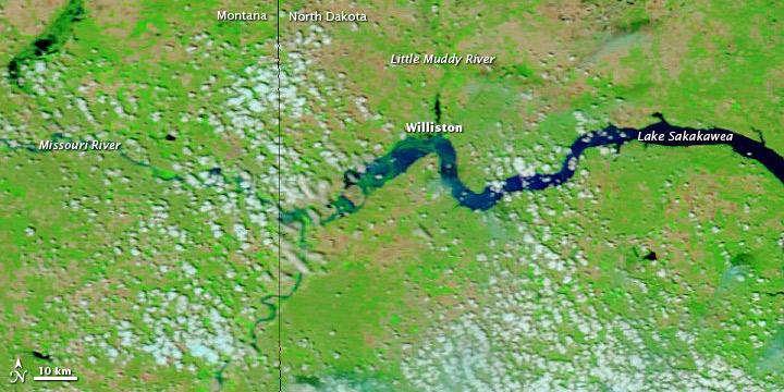 Flooding near Williston, North Dakota