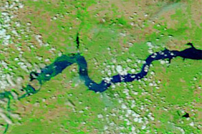 Flooding near Williston, North Dakota