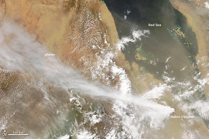 Eruption at Nabro Volcano, Eritrea