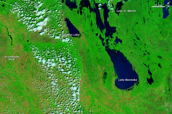 Flooding in Lake Manitoba and the Assiniboine River