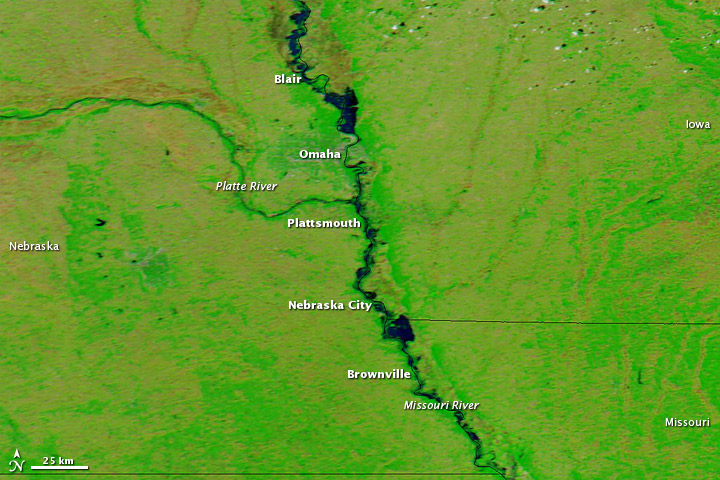 Flooding along the Missouri River