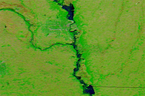 Flooding along the Missouri River