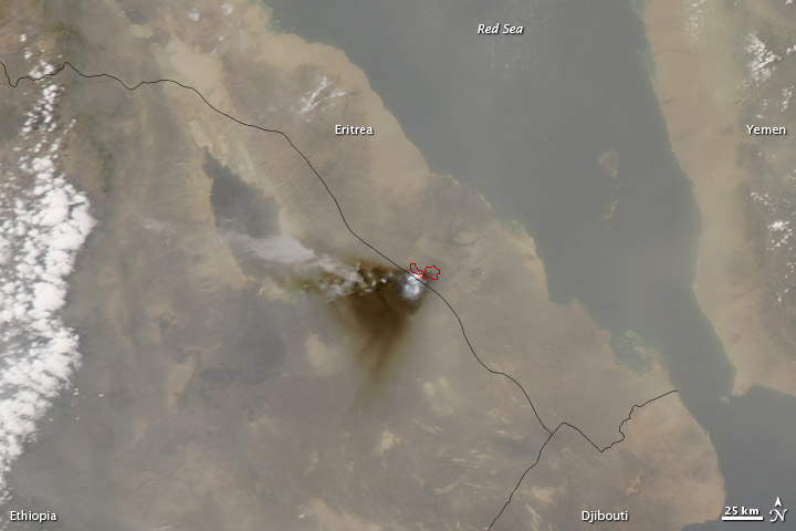 Eruption at Nabro Volcano