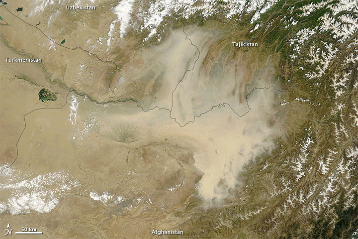 Dust Storm over Northern Afghanistan