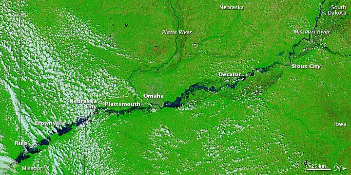 Floods Advance Down the Missouri River