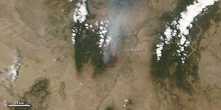 Las Conchas Fire, New Mexico