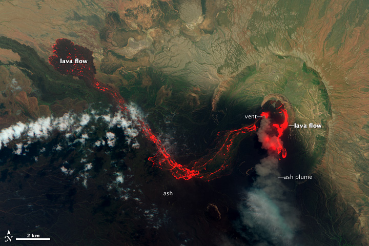 Lava Flows at Nabro Volcano, Eritrea