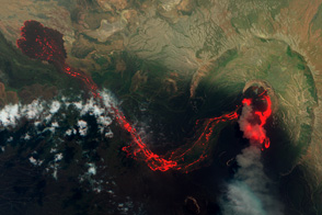 Lava Flows at Nabro Volcano, Eritrea