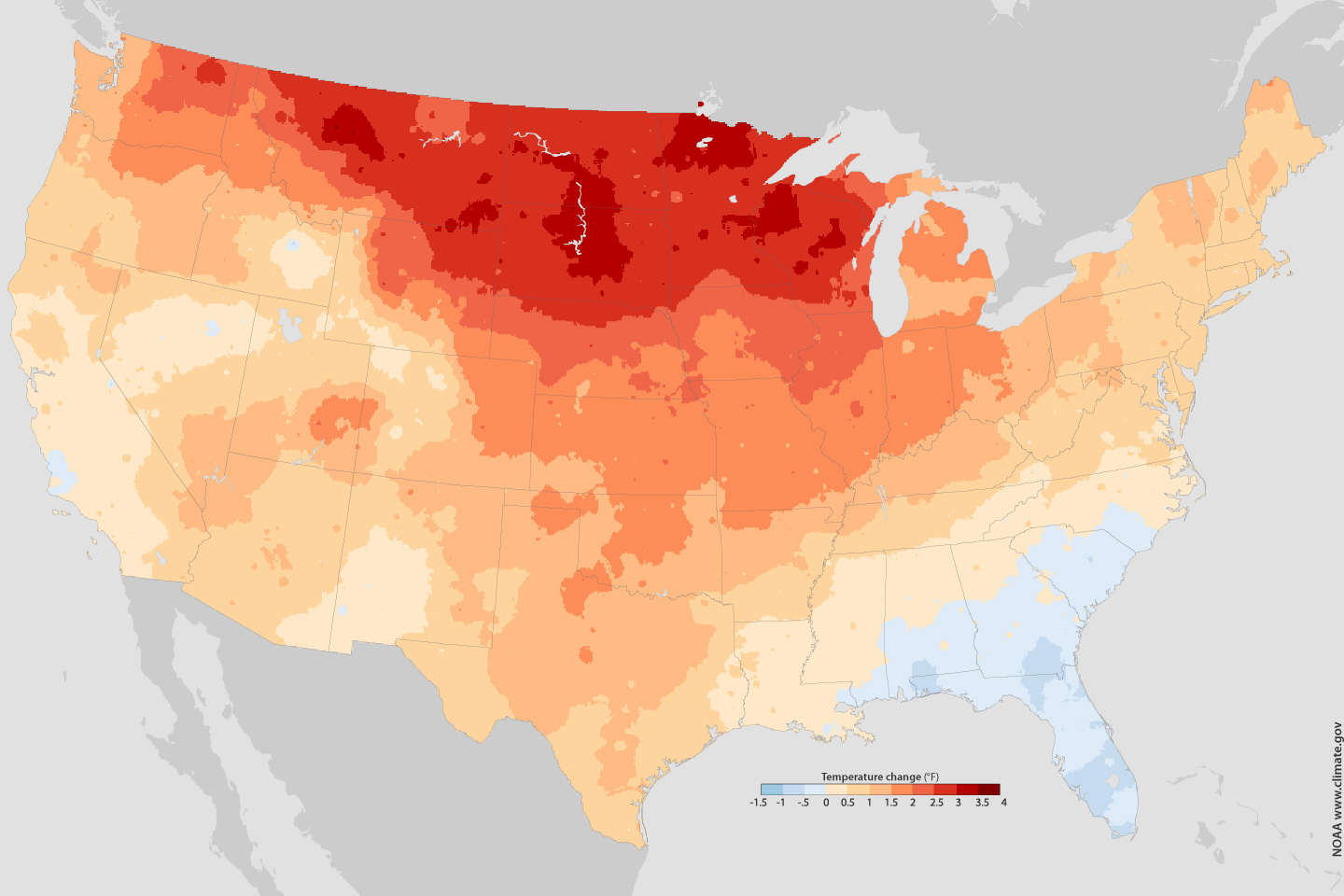 US Climate The New Normal Image Of The Day - Januaray temperatures us map