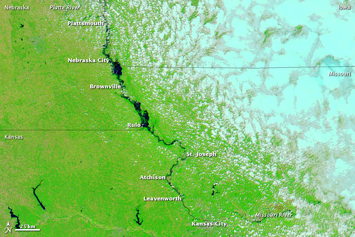 Flooding Spreads along the Missouri River