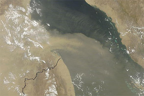 Dust Plumes over the Red Sea