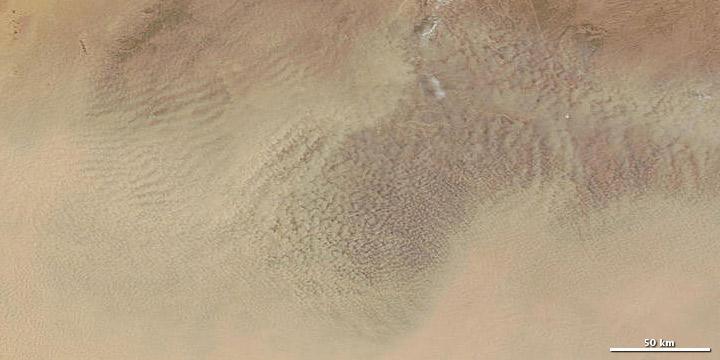 Dust Storm over Algeria