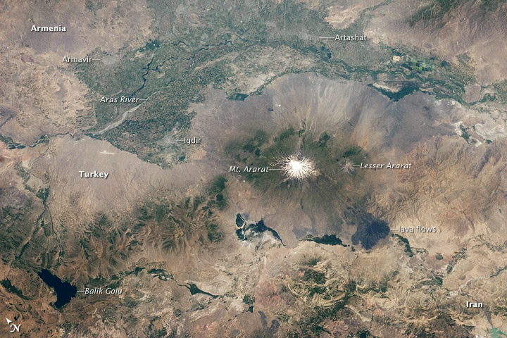 Aras River, Turkey-Armenia-Iran Border Region