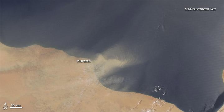 Dust off the Libyan Coast