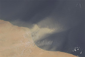 Dust off the Libyan Coast