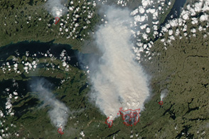 Fires in Northwest Territories, Canada