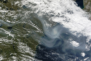 Smoke from Fires in Northwest Territories, Canada