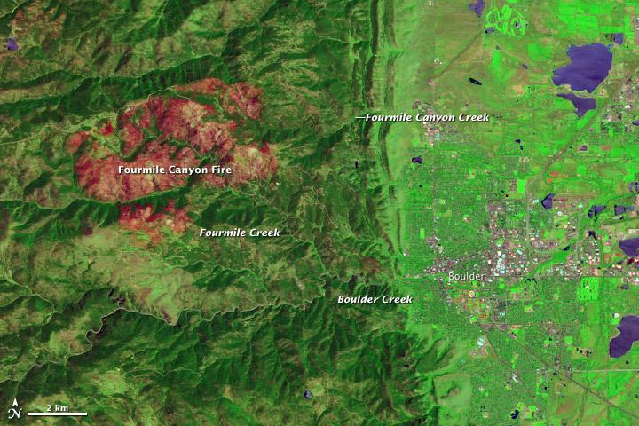 Burn Scar From Fourmile Canyon Fire