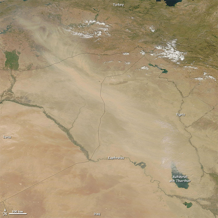Dust over Iraq, Syria, and Turkey - related image preview