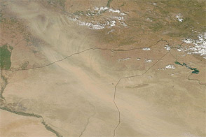 Dust over Iraq, Syria, and Turkey - selected image