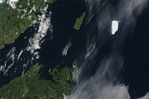 Petermann Ice Island-A off Labrador