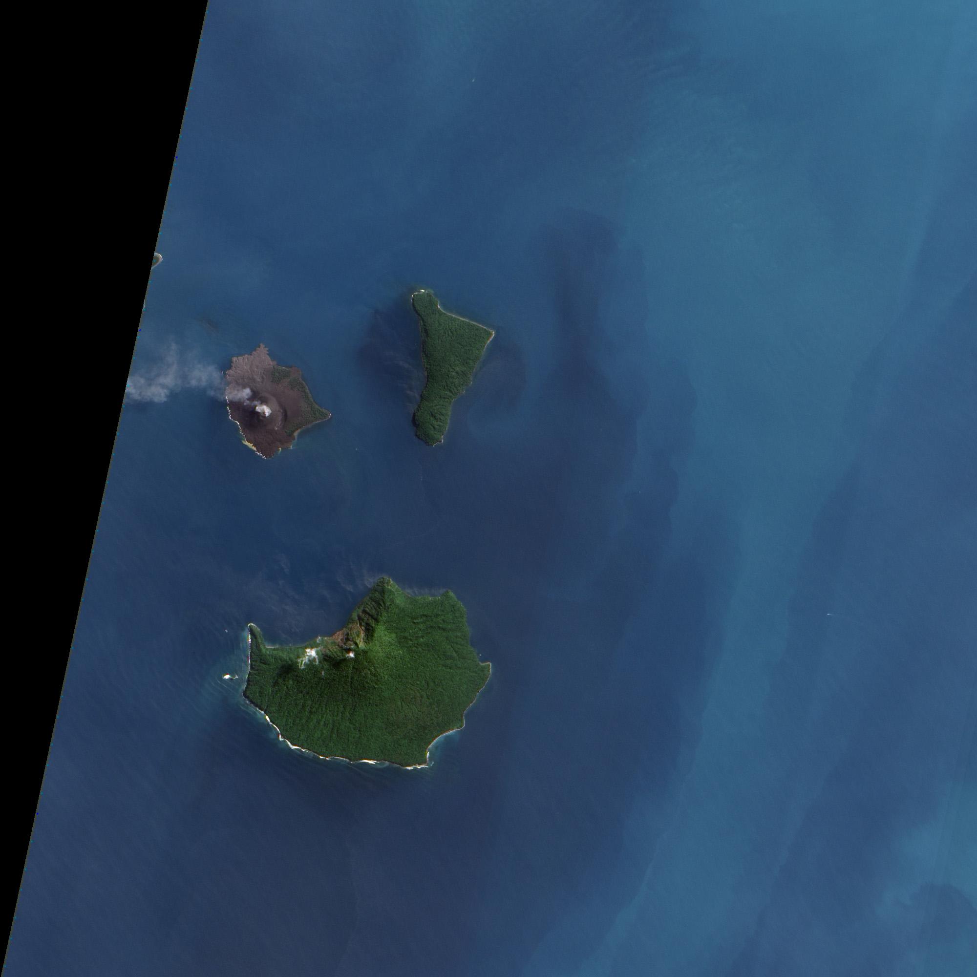 volcanic acitivity at krakatau   natural hazards