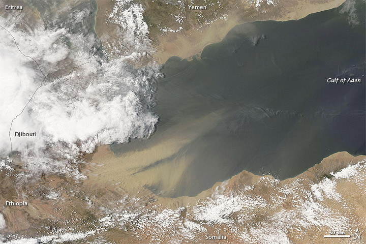 Dust over the Gulf of Aden