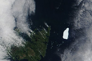 Petermann Ice Island-A off Newfoundland