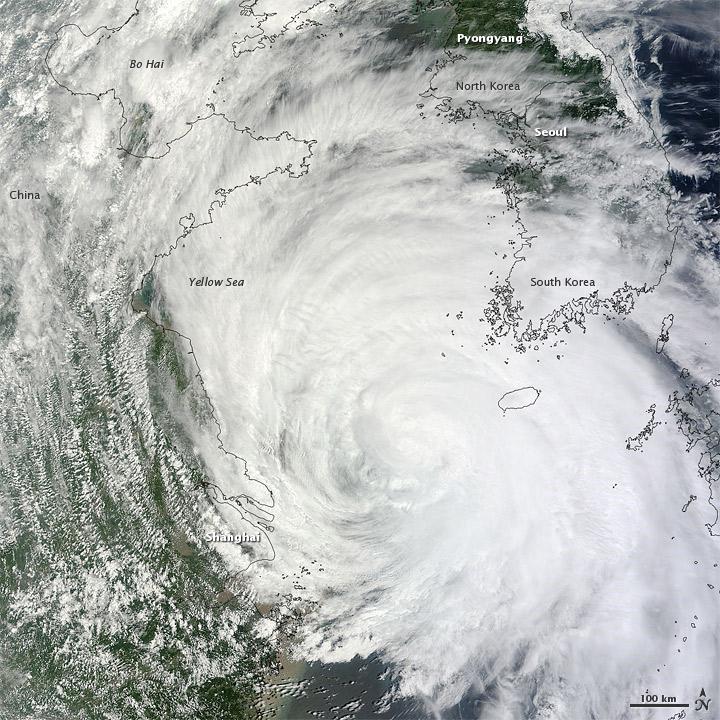 Tropical Storm Muifa Makes Landfall