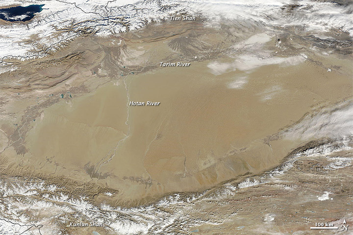 Winter and Summer in the Tarim Basin