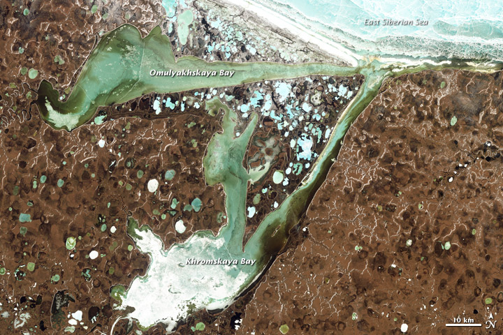 Omulyakhskaya and Khromskaya Bays, Northern Siberia