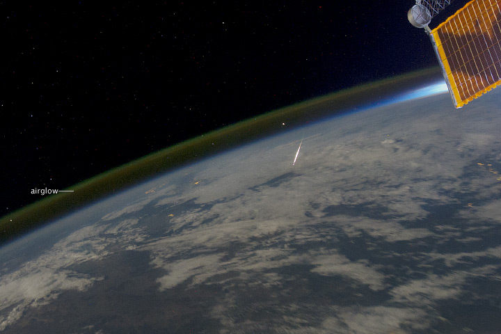 Looking Down on a Shooting Star