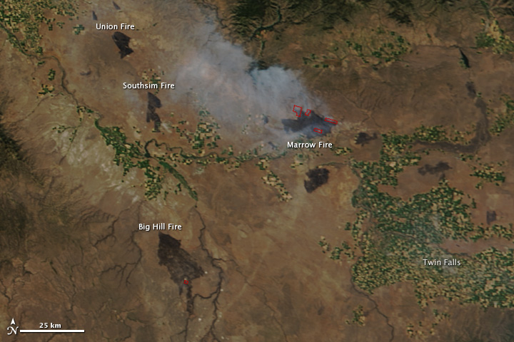Fires in Western Idaho