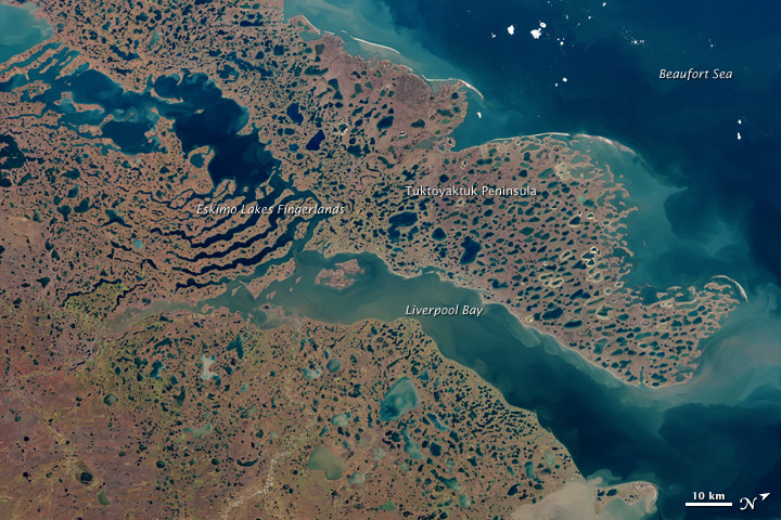 Liverpool Bay and Tuktoyaktuk Peninsula, Canada