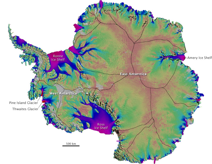 First Map of Antarctica's Moving Ice