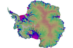 First Map of Antartica's Moving Ice