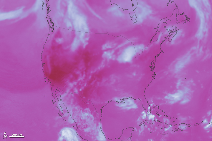 U.S. Heat Wave and Earth's Energy Balance