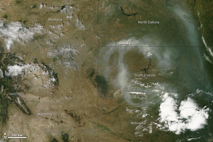 Fires in Montana and Wyoming